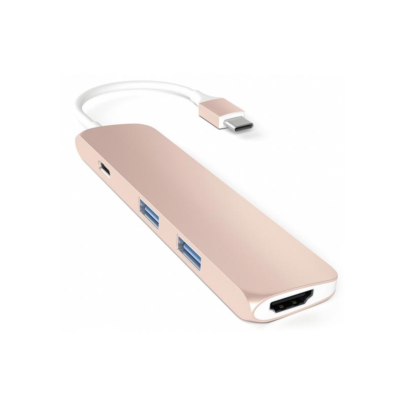 Satechi Type-C USB Passthrough HDMI Hub, Roségold